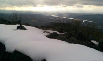 Schnee im Siebengebirge – Von der Margarethenhöhe zur Löwenburg